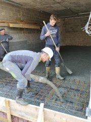 Betoneinbau im Keller